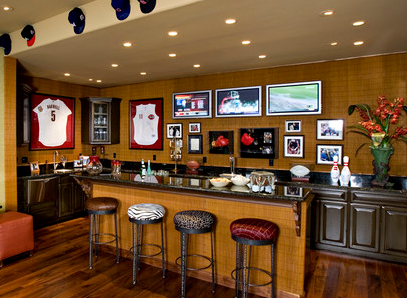 the march madness of man caves. Black Bedroom Furniture Sets. Home Design Ideas